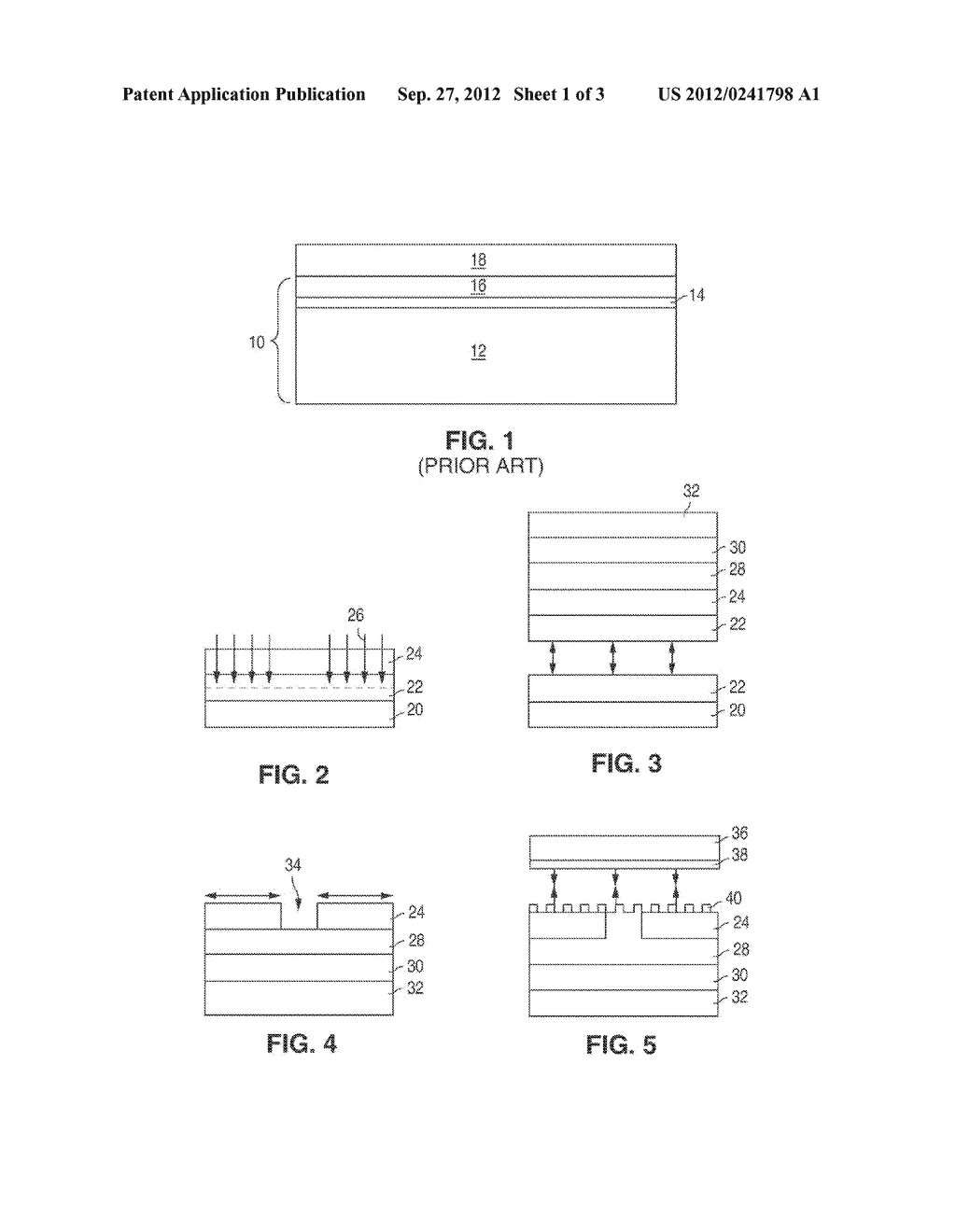 III-V LIGHT EMITTING DEVICE INCLUDING A LIGHT EXTRACTING STRUCTURE - diagram, schematic, and image 02