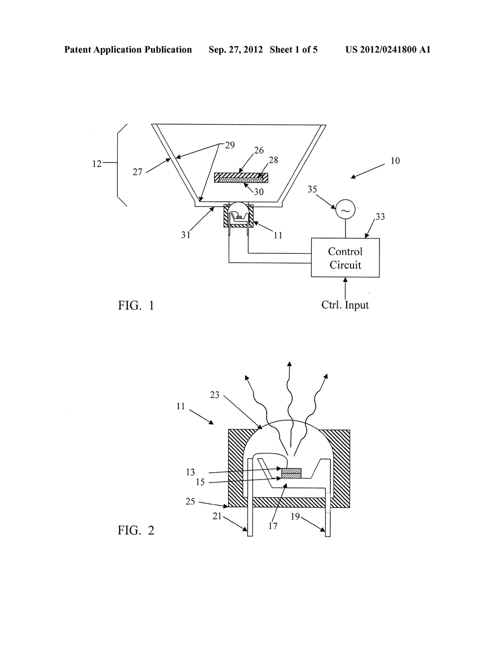 SOLID STATE LIGHTING SYSTEM WITH OPTIC PROVIDING OCCLUDED REMOTE PHOSPHOR - diagram, schematic, and image 02