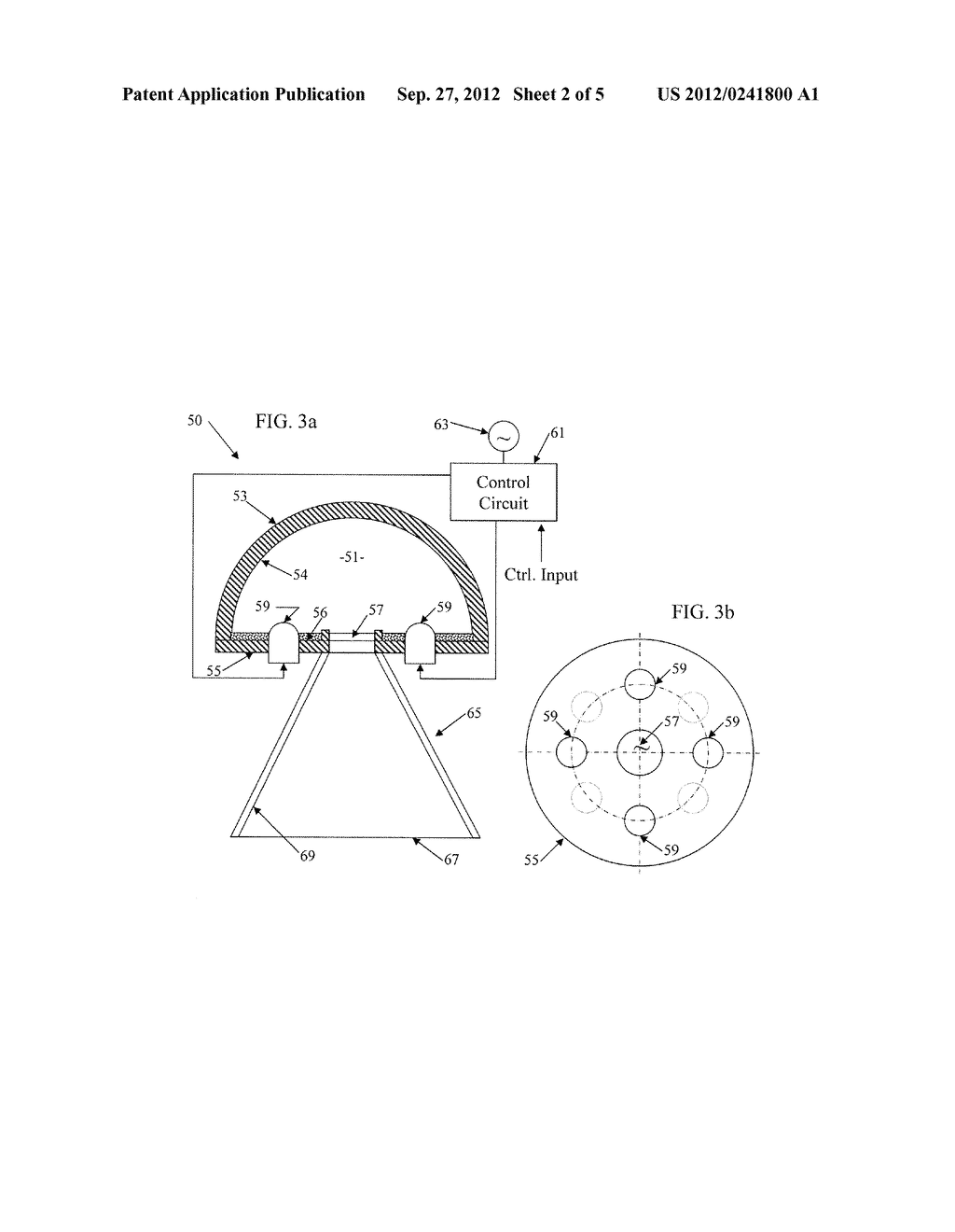 SOLID STATE LIGHTING SYSTEM WITH OPTIC PROVIDING OCCLUDED REMOTE PHOSPHOR - diagram, schematic, and image 03