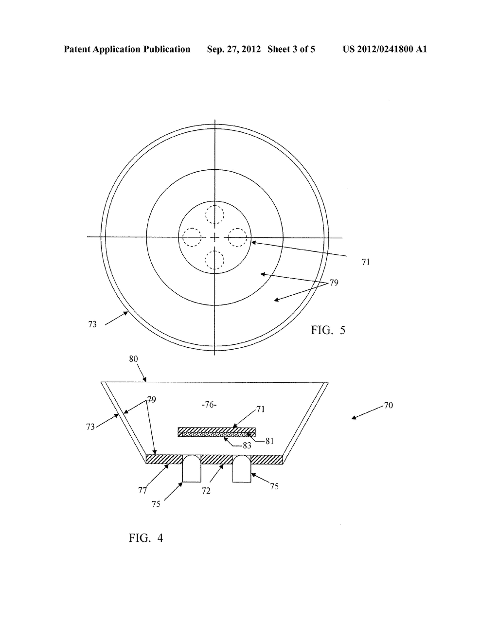 SOLID STATE LIGHTING SYSTEM WITH OPTIC PROVIDING OCCLUDED REMOTE PHOSPHOR - diagram, schematic, and image 04
