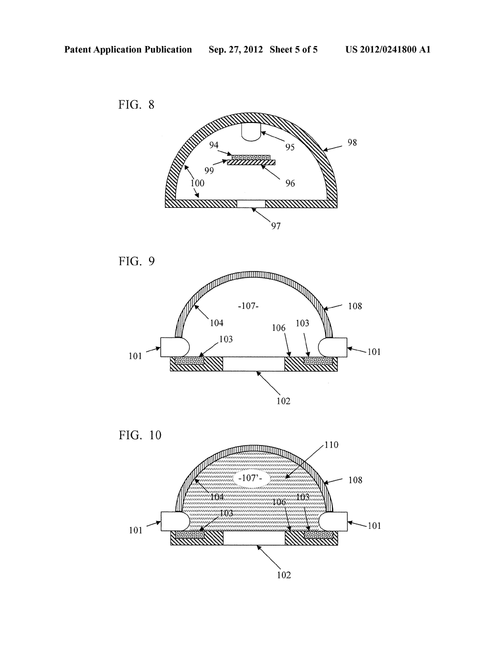 SOLID STATE LIGHTING SYSTEM WITH OPTIC PROVIDING OCCLUDED REMOTE PHOSPHOR - diagram, schematic, and image 06