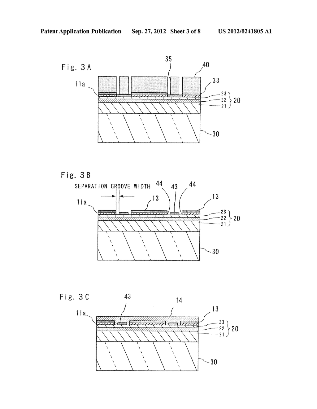 SEMICONDUCTOR LIGHT EMITTING ELEMENT AND MANUFACTURING METHOD THEREOF - diagram, schematic, and image 04