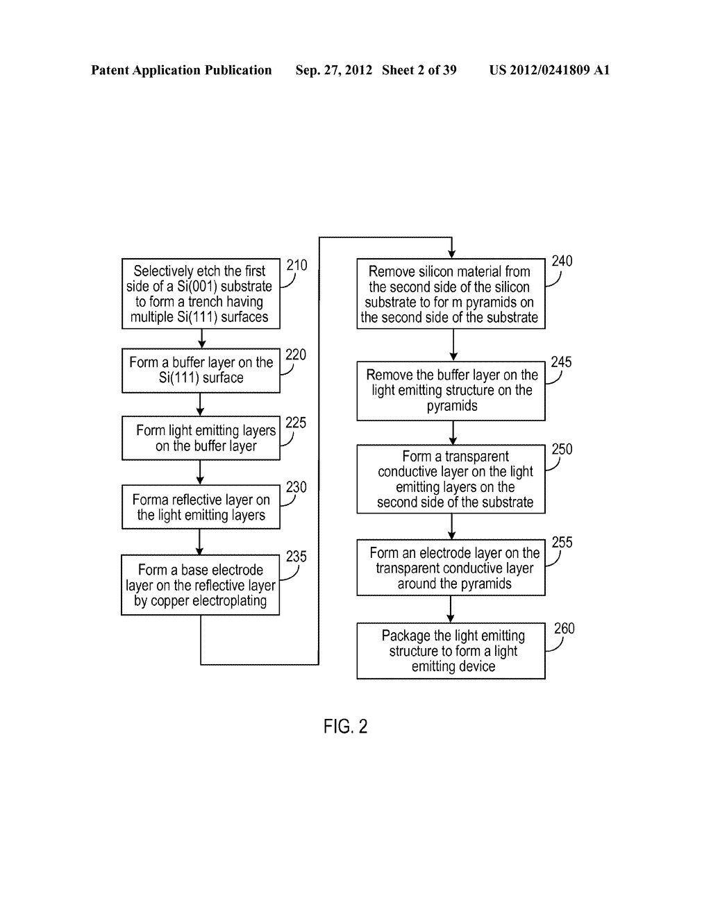 MANUFACTURING PROCESS FOR SOLID STATE LIGHTING DEVICE ON A CONDUCTIVE     SUBSTRATE - diagram, schematic, and image 03