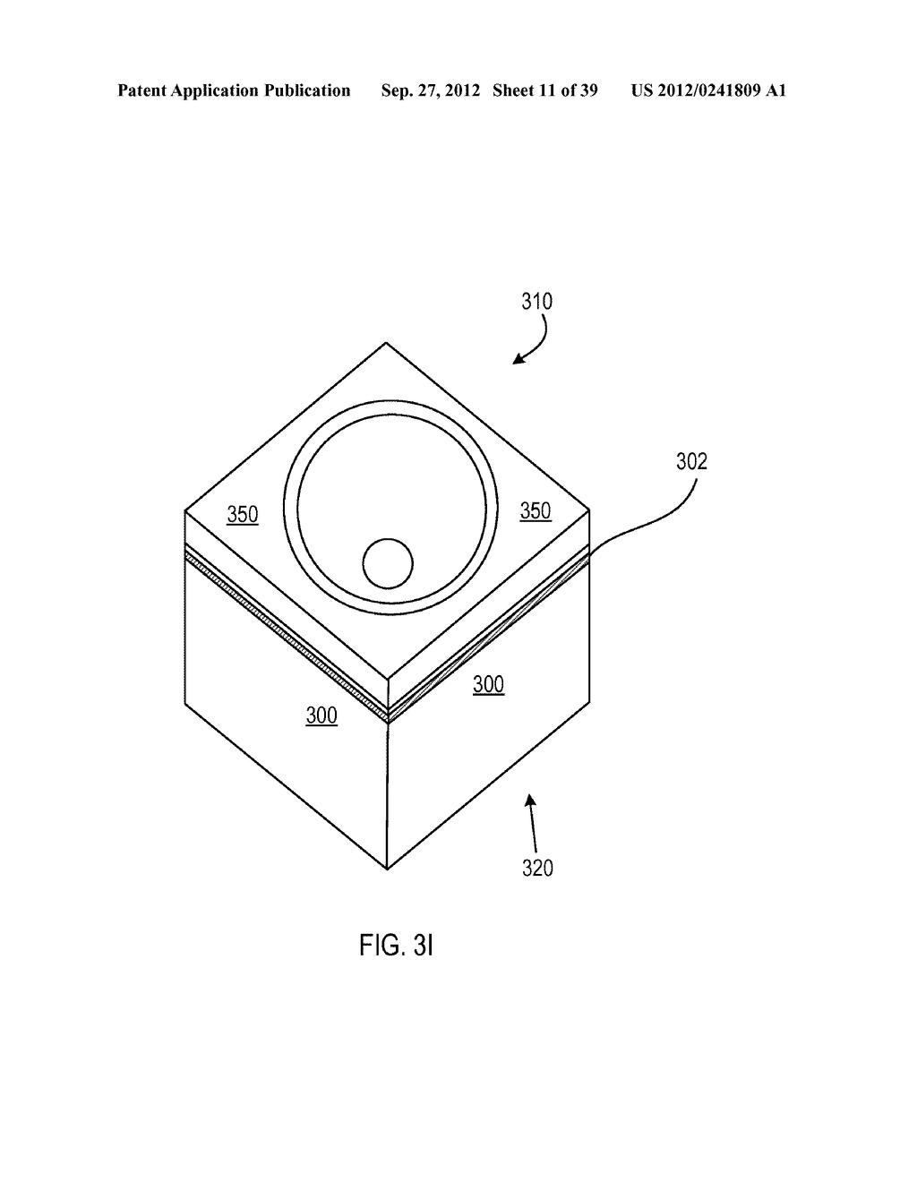 MANUFACTURING PROCESS FOR SOLID STATE LIGHTING DEVICE ON A CONDUCTIVE     SUBSTRATE - diagram, schematic, and image 12