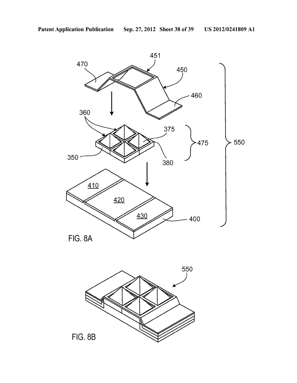 MANUFACTURING PROCESS FOR SOLID STATE LIGHTING DEVICE ON A CONDUCTIVE     SUBSTRATE - diagram, schematic, and image 39