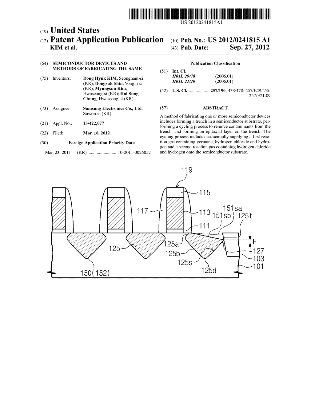 SEMICONDUCTOR DEVICES AND METHODS OF FABRICATING THE SAME - diagram, schematic, and image 01