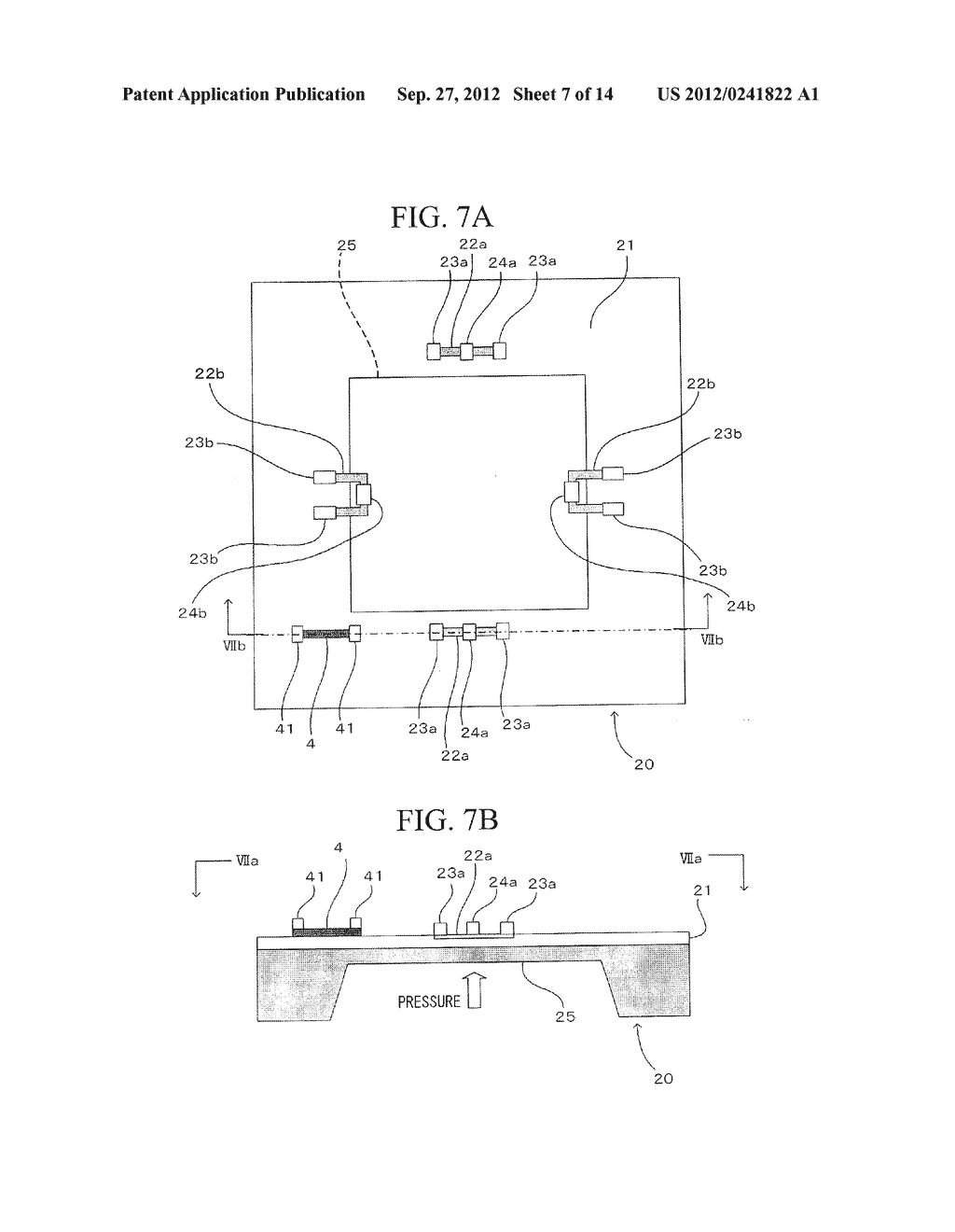 SEMICONDUCTOR DEVICE, DISTORTION GAUGE, PRESSURE SENSOR, AND METHOD OF     MANUFACTURING SEMICONDUCTOR DEVICE - diagram, schematic, and image 08