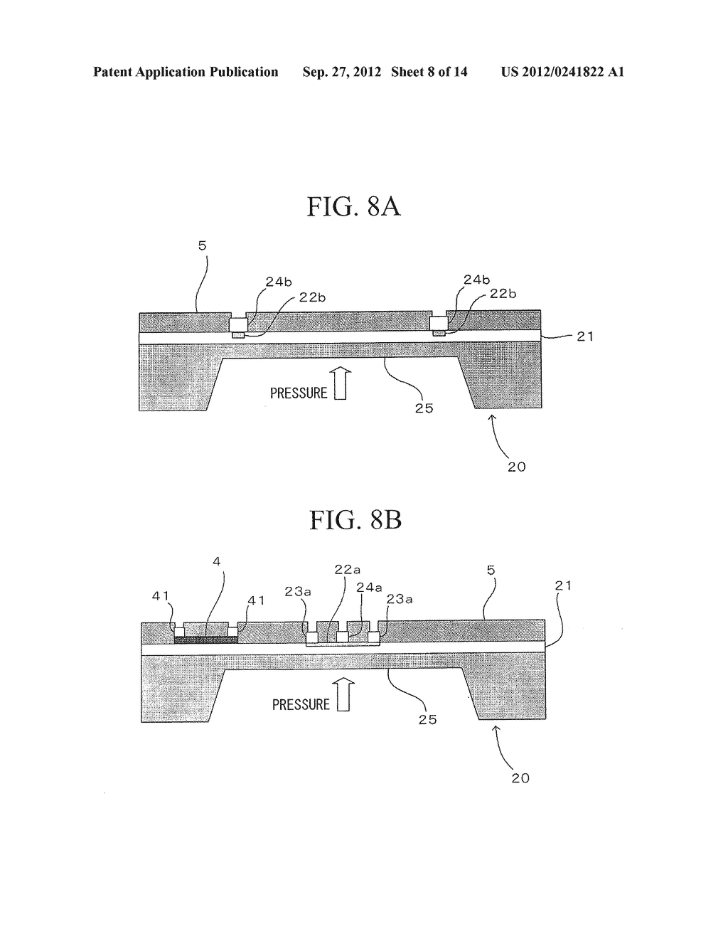 SEMICONDUCTOR DEVICE, DISTORTION GAUGE, PRESSURE SENSOR, AND METHOD OF     MANUFACTURING SEMICONDUCTOR DEVICE - diagram, schematic, and image 09