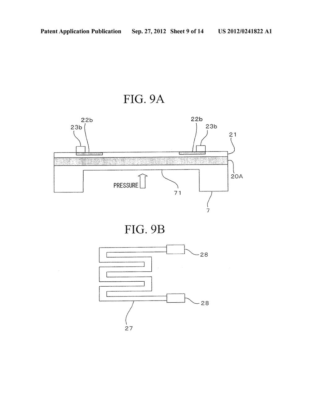 SEMICONDUCTOR DEVICE, DISTORTION GAUGE, PRESSURE SENSOR, AND METHOD OF     MANUFACTURING SEMICONDUCTOR DEVICE - diagram, schematic, and image 10