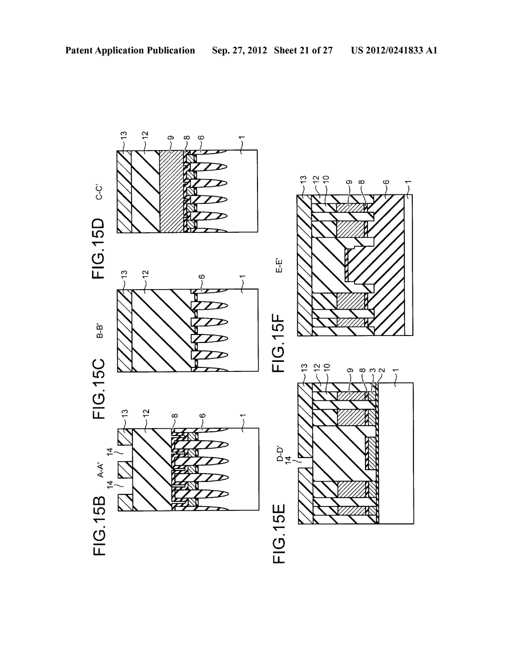NONVOLATILE SEMICONDUCTOR STORAGE DEVICE AND METHOD FOR MANUFACTURING THE     SAME - diagram, schematic, and image 22