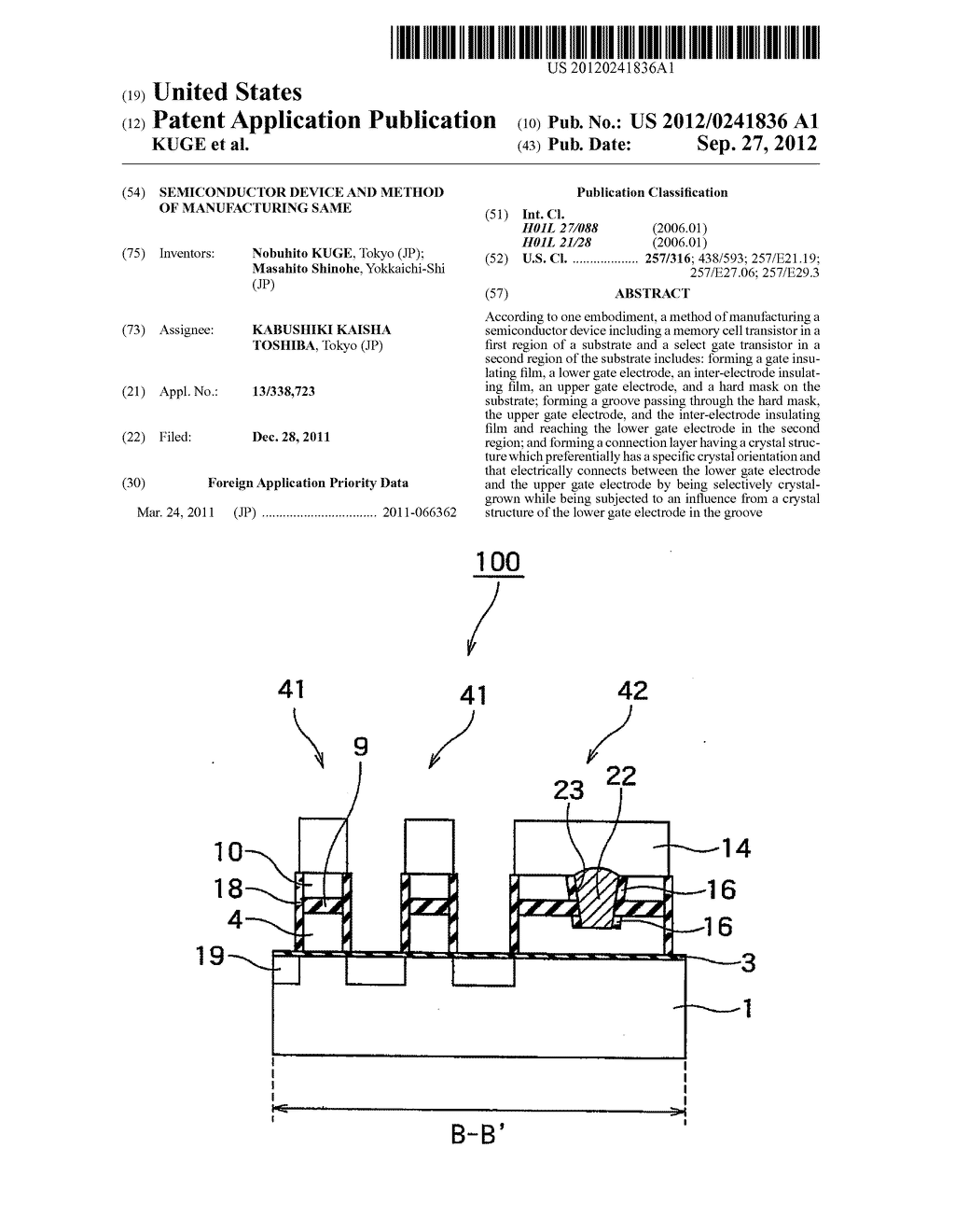 SEMICONDUCTOR DEVICE AND METHOD OF MANUFACTURING SAME - diagram, schematic, and image 01