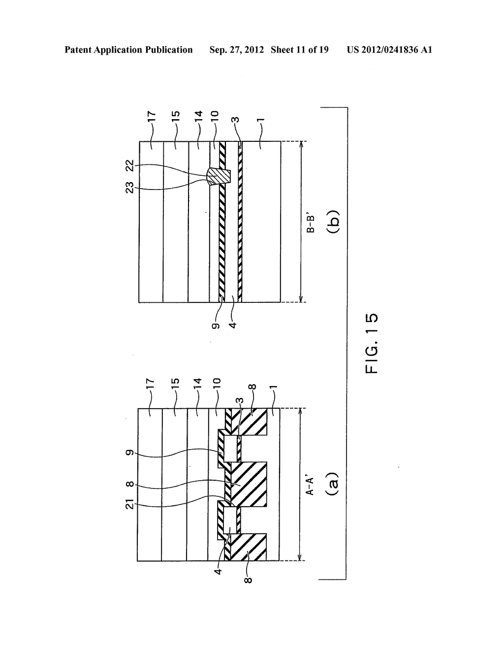 SEMICONDUCTOR DEVICE AND METHOD OF MANUFACTURING SAME - diagram, schematic, and image 12