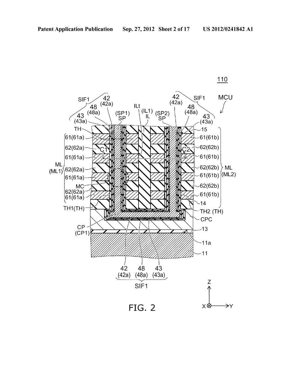 NONVOLATILE SEMICONDUCTOR MEMORY DEVICE AND METHOD FOR MANUFACTURING SAME - diagram, schematic, and image 03