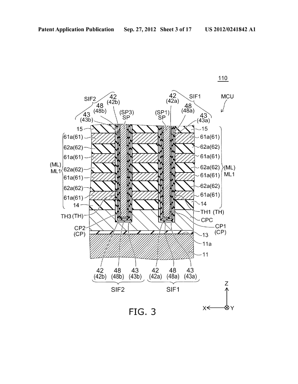NONVOLATILE SEMICONDUCTOR MEMORY DEVICE AND METHOD FOR MANUFACTURING SAME - diagram, schematic, and image 04