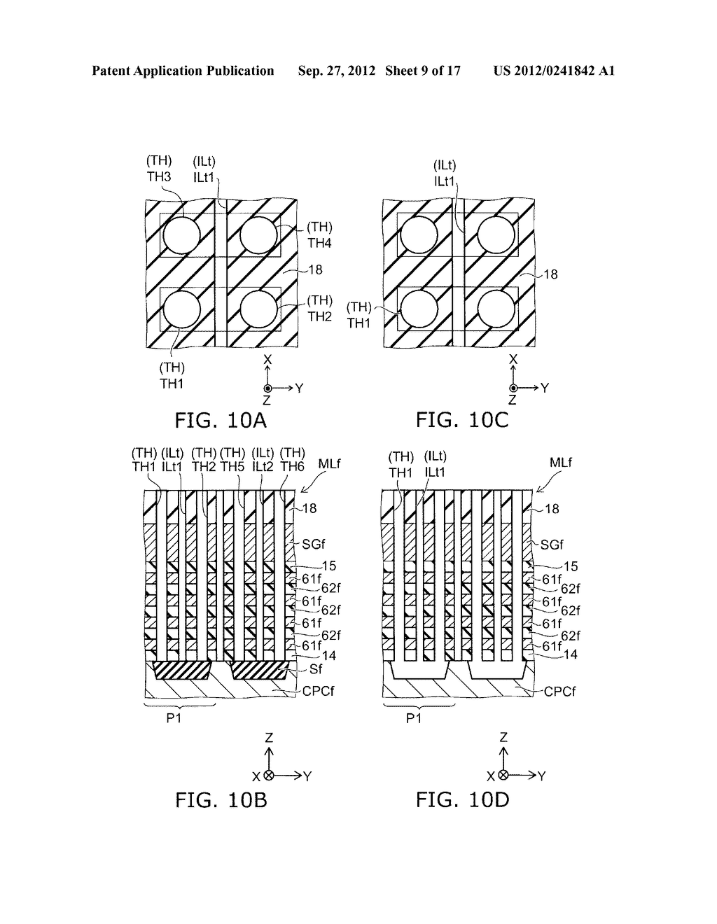 NONVOLATILE SEMICONDUCTOR MEMORY DEVICE AND METHOD FOR MANUFACTURING SAME - diagram, schematic, and image 10