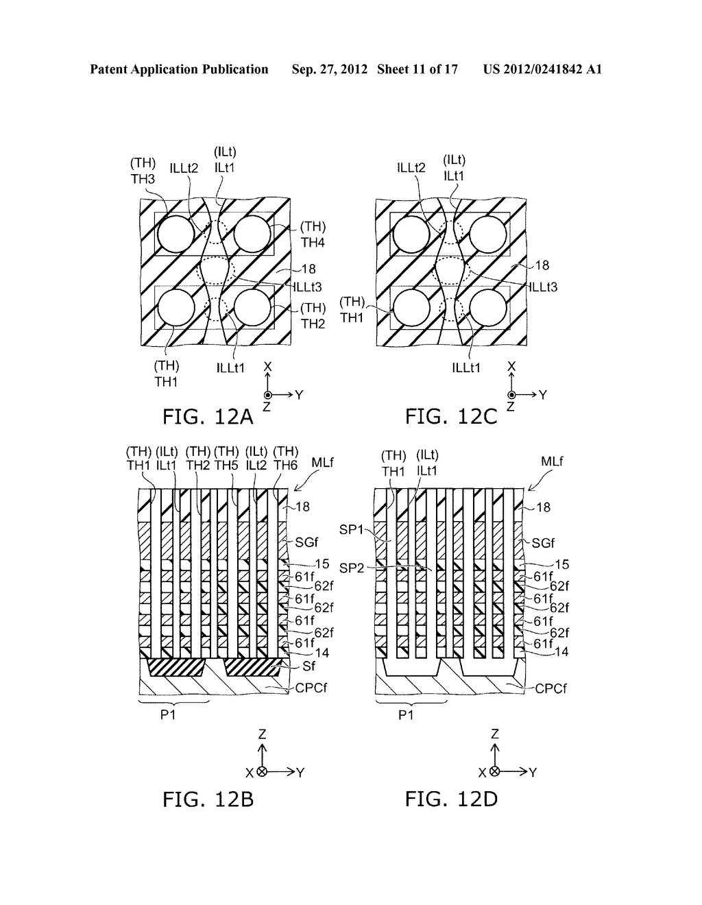 NONVOLATILE SEMICONDUCTOR MEMORY DEVICE AND METHOD FOR MANUFACTURING SAME - diagram, schematic, and image 12