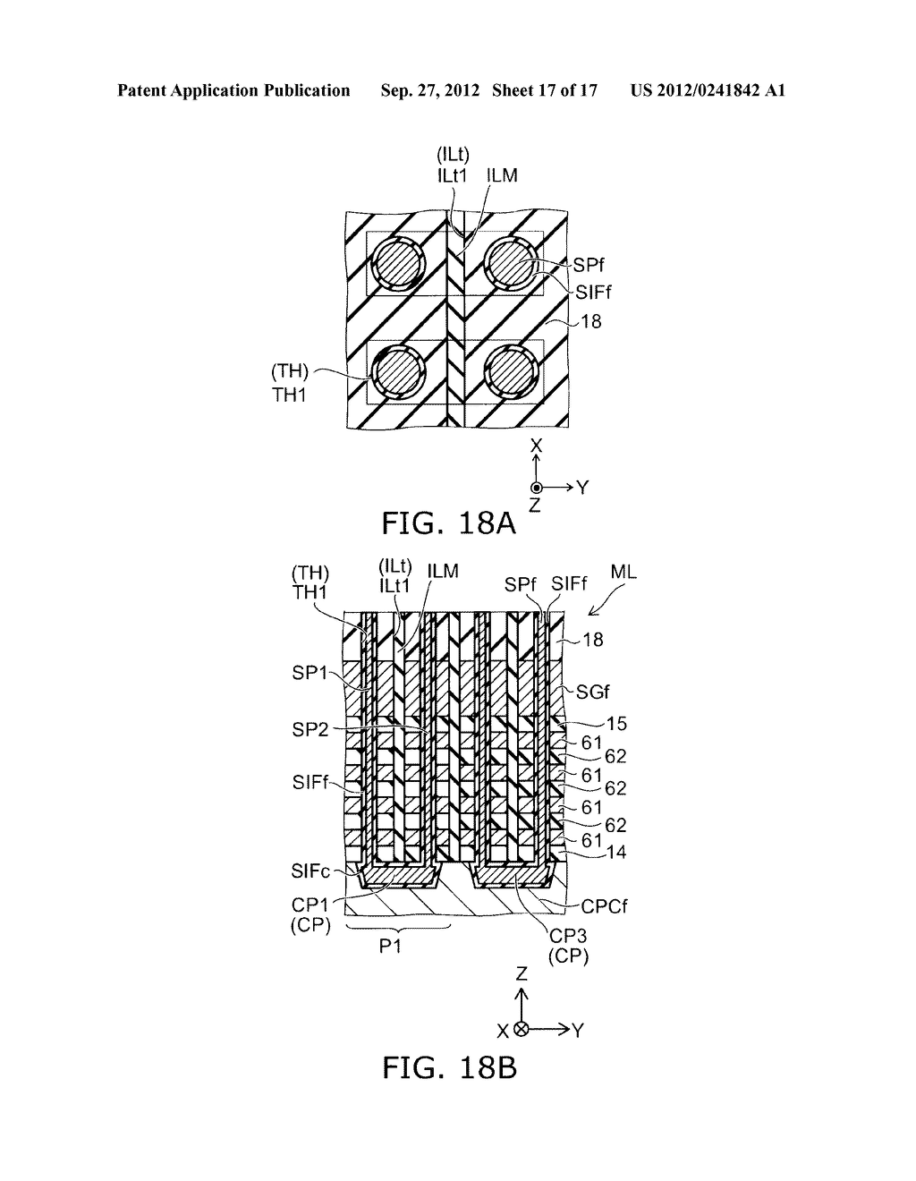 NONVOLATILE SEMICONDUCTOR MEMORY DEVICE AND METHOD FOR MANUFACTURING SAME - diagram, schematic, and image 18
