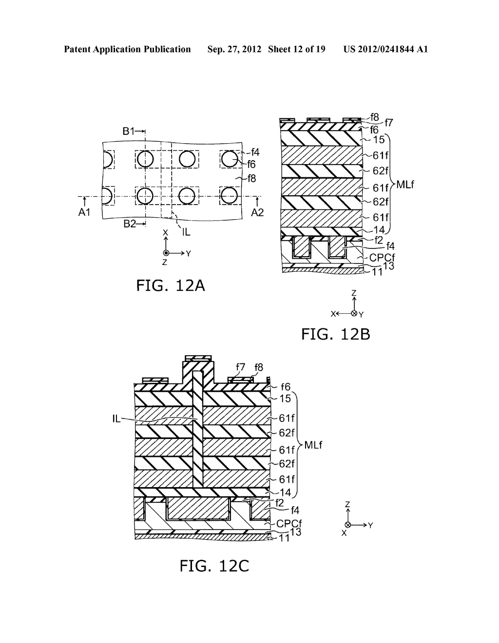 NONVOLATILE SEMICONDUCTOR MEMORY DEVICE AND METHOD FOR MANUFACTURING SAME - diagram, schematic, and image 13