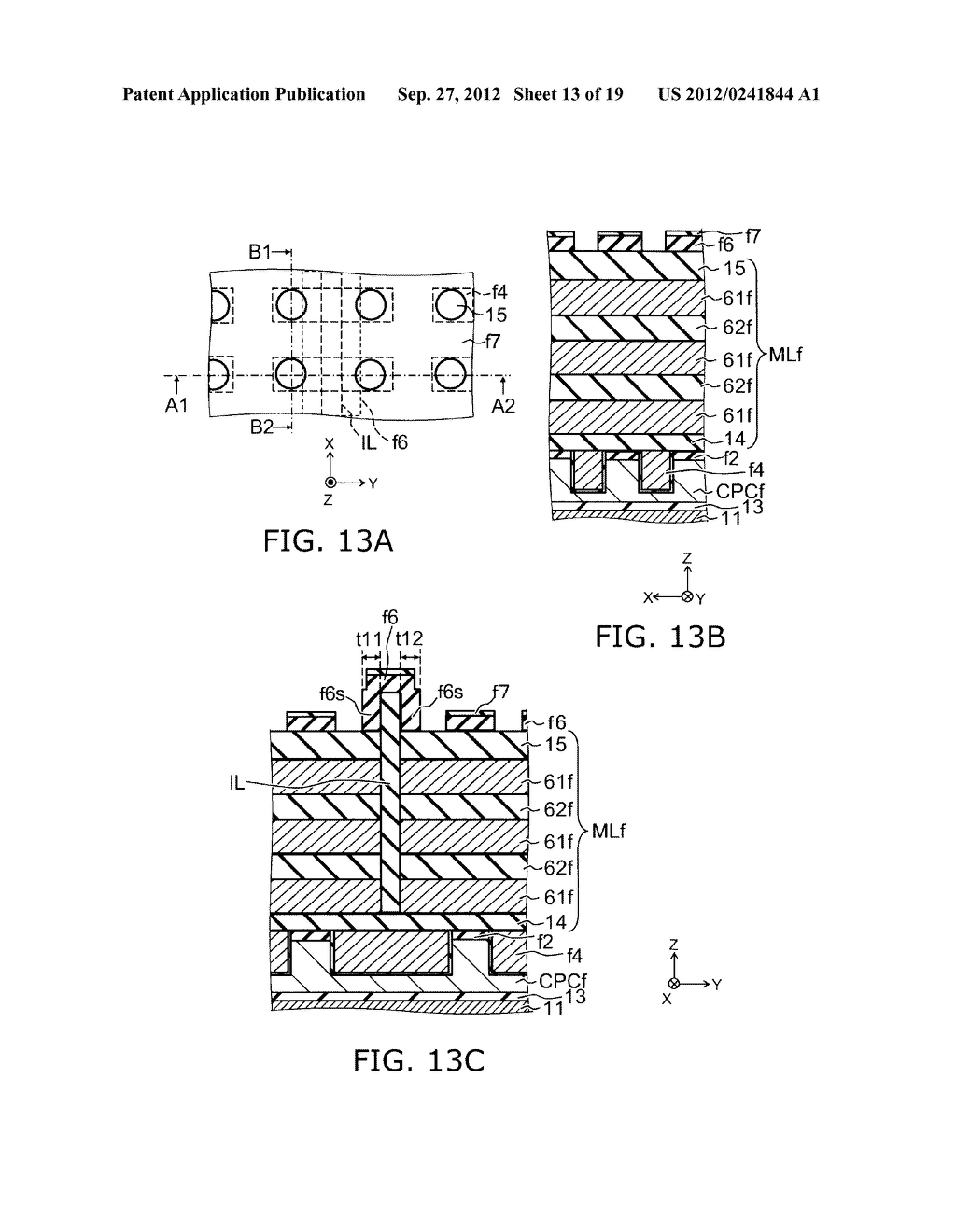 NONVOLATILE SEMICONDUCTOR MEMORY DEVICE AND METHOD FOR MANUFACTURING SAME - diagram, schematic, and image 14
