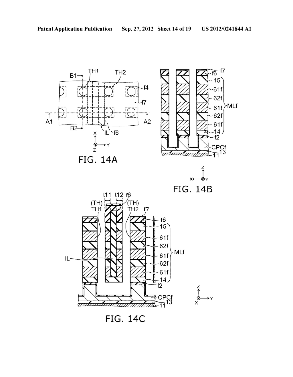 NONVOLATILE SEMICONDUCTOR MEMORY DEVICE AND METHOD FOR MANUFACTURING SAME - diagram, schematic, and image 15