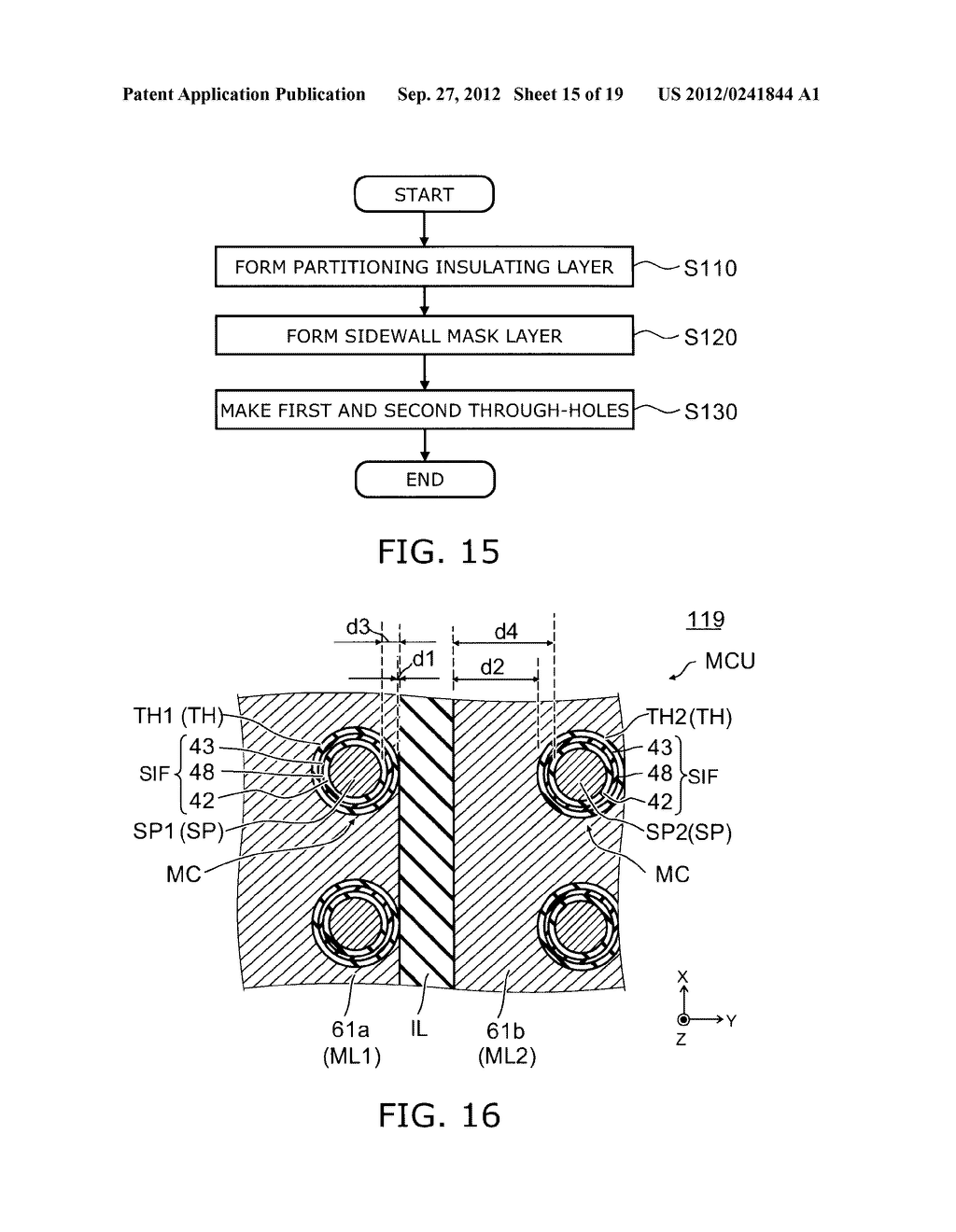 NONVOLATILE SEMICONDUCTOR MEMORY DEVICE AND METHOD FOR MANUFACTURING SAME - diagram, schematic, and image 16