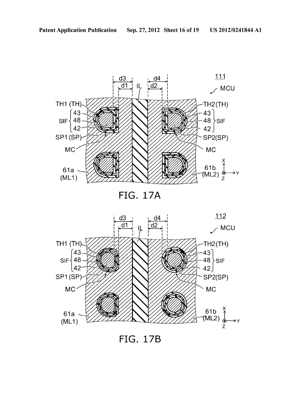 NONVOLATILE SEMICONDUCTOR MEMORY DEVICE AND METHOD FOR MANUFACTURING SAME - diagram, schematic, and image 17