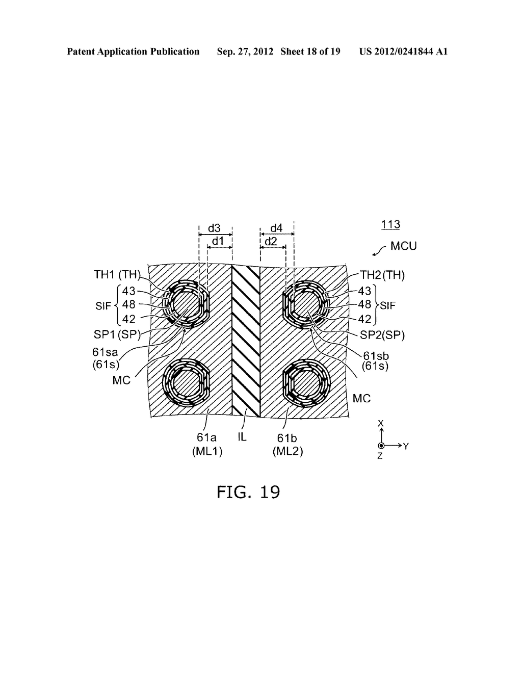 NONVOLATILE SEMICONDUCTOR MEMORY DEVICE AND METHOD FOR MANUFACTURING SAME - diagram, schematic, and image 19