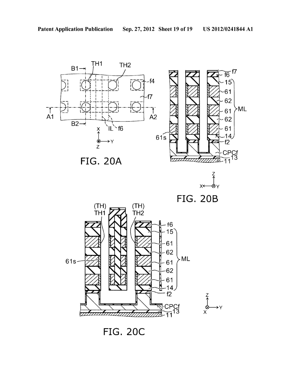 NONVOLATILE SEMICONDUCTOR MEMORY DEVICE AND METHOD FOR MANUFACTURING SAME - diagram, schematic, and image 20