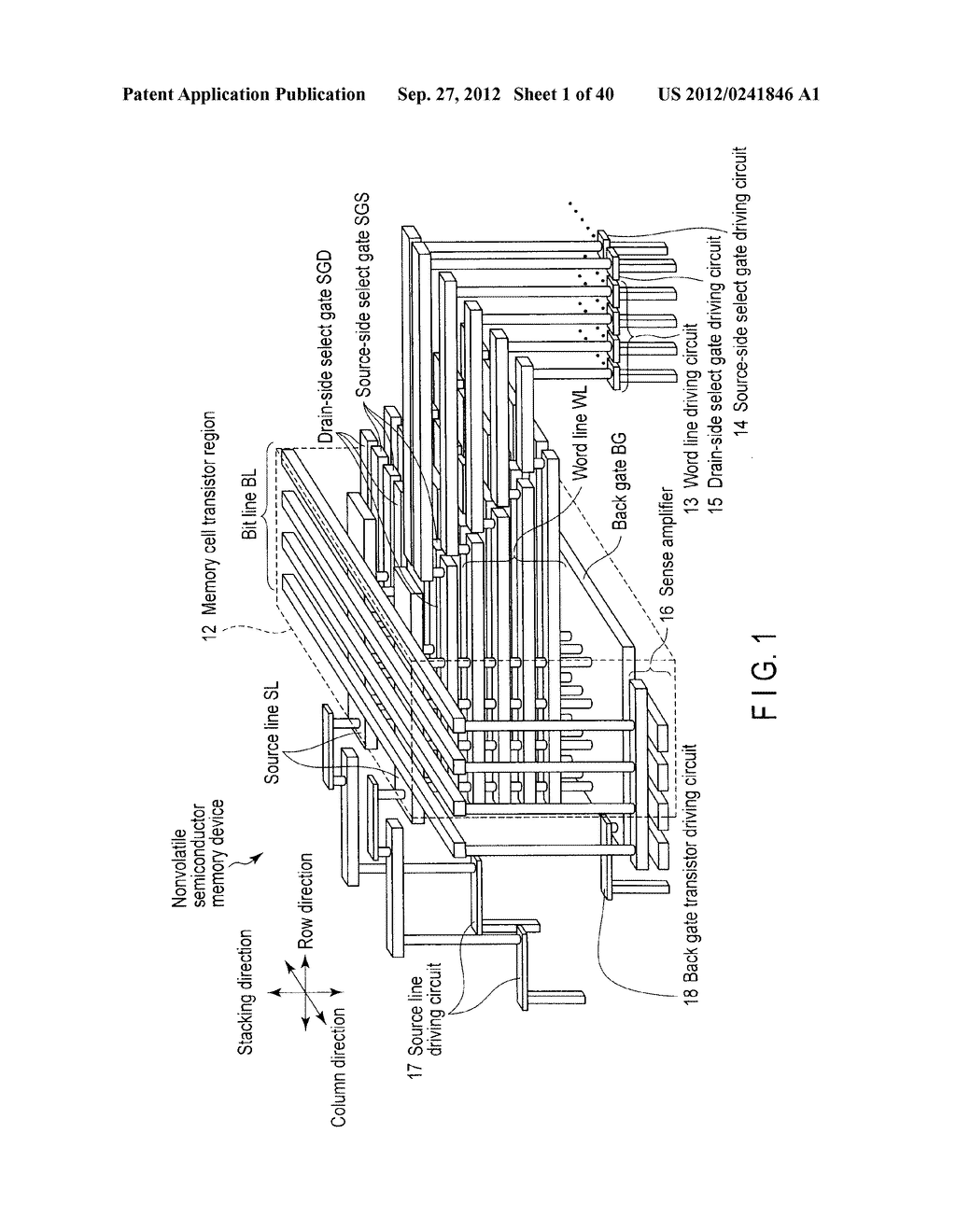 NONVOLATILE SEMICONDUCTOR MEMORY DEVICE AND METHOD OF MANUFACTURING THE     SAME - diagram, schematic, and image 02