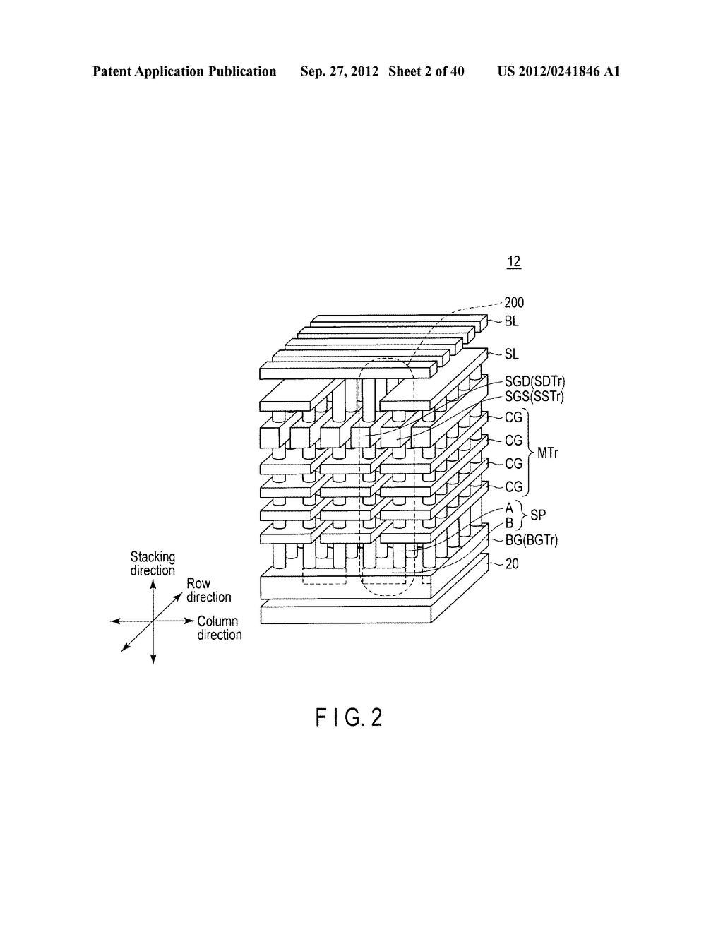 NONVOLATILE SEMICONDUCTOR MEMORY DEVICE AND METHOD OF MANUFACTURING THE     SAME - diagram, schematic, and image 03