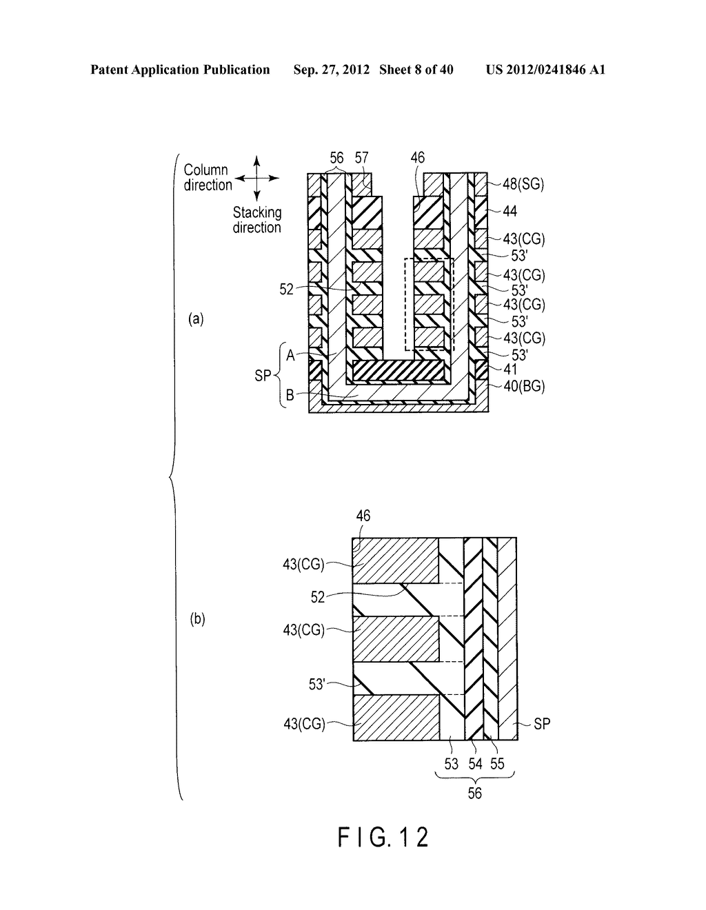 NONVOLATILE SEMICONDUCTOR MEMORY DEVICE AND METHOD OF MANUFACTURING THE     SAME - diagram, schematic, and image 09