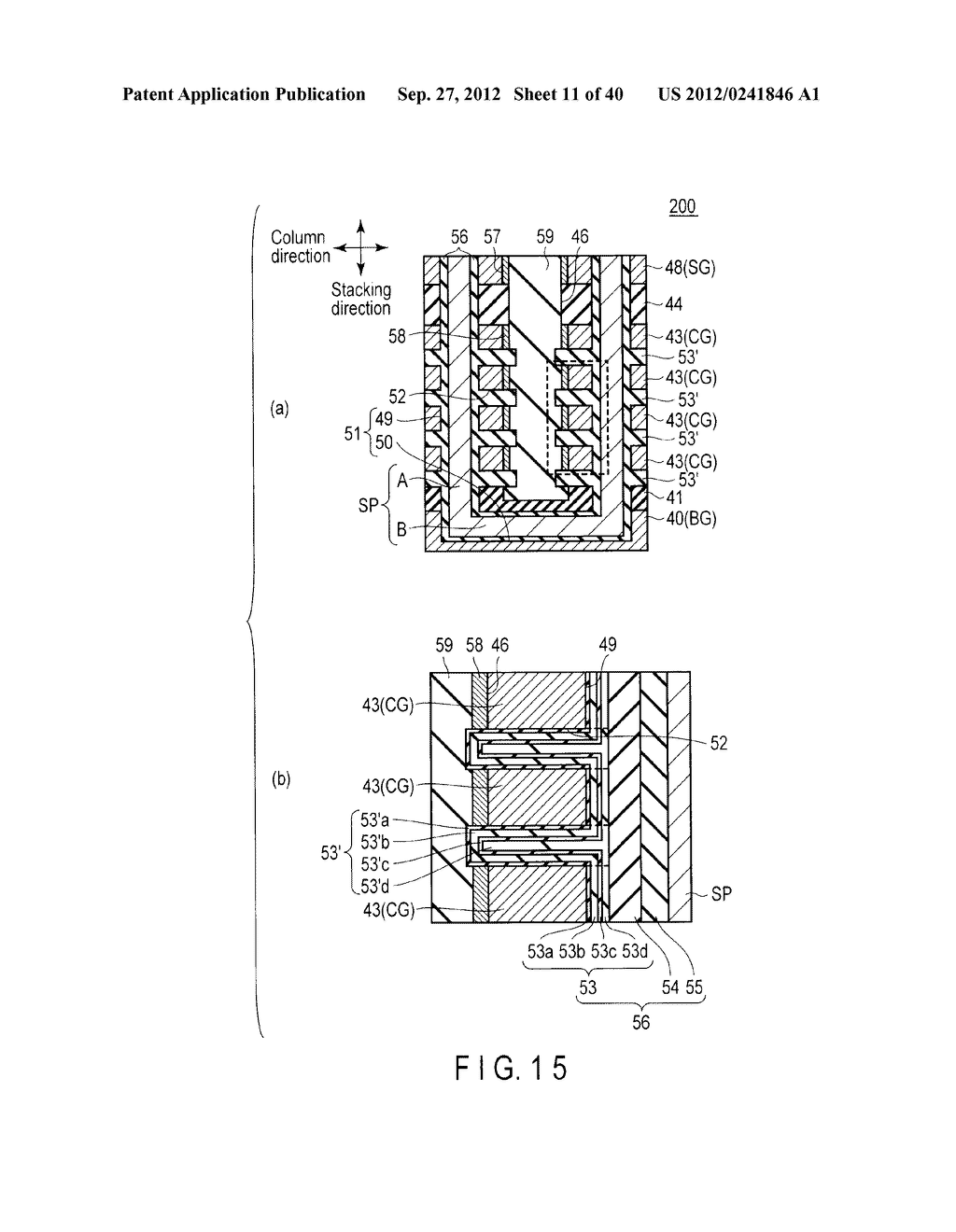 NONVOLATILE SEMICONDUCTOR MEMORY DEVICE AND METHOD OF MANUFACTURING THE     SAME - diagram, schematic, and image 12