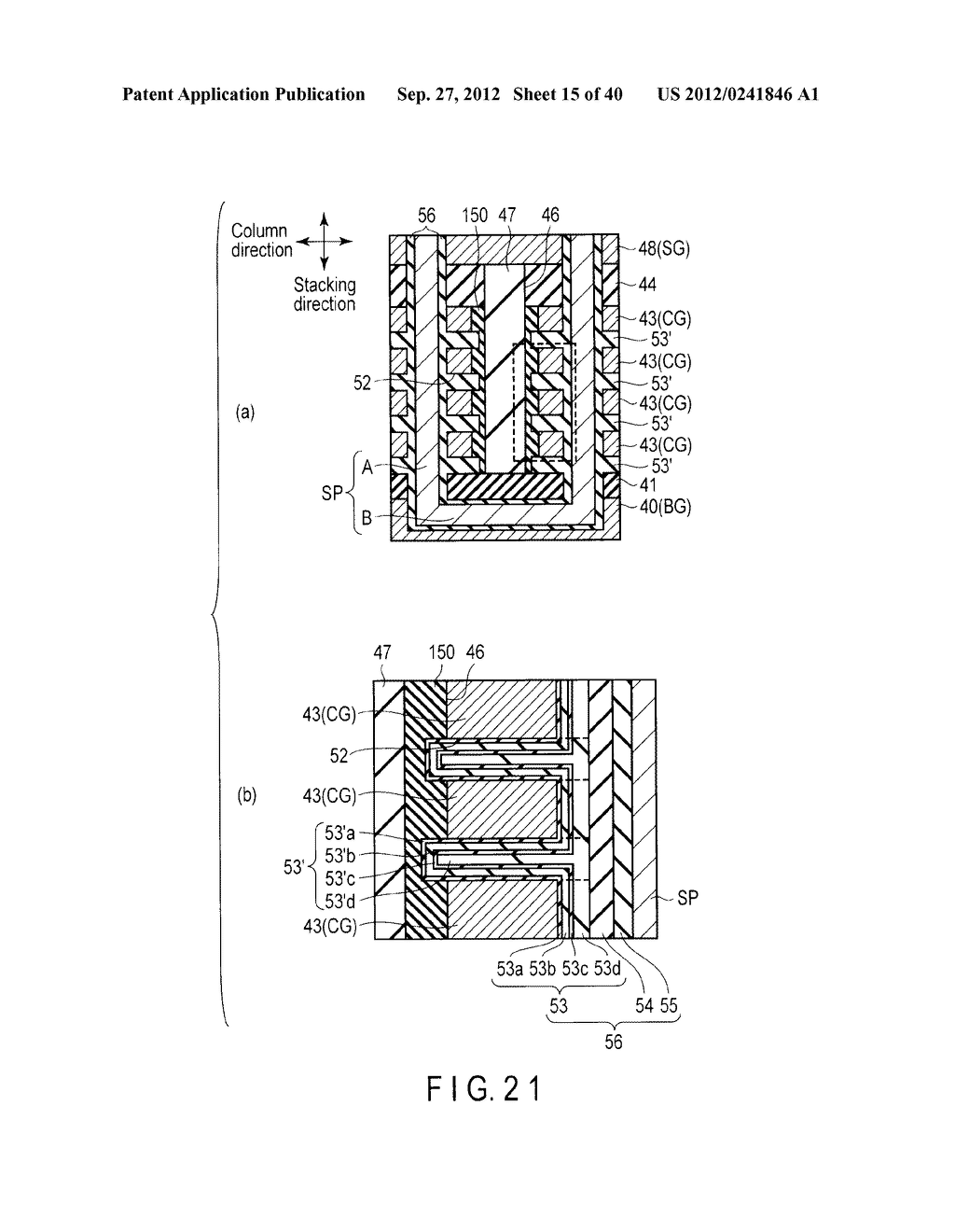 NONVOLATILE SEMICONDUCTOR MEMORY DEVICE AND METHOD OF MANUFACTURING THE     SAME - diagram, schematic, and image 16