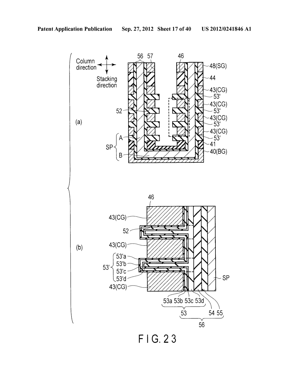 NONVOLATILE SEMICONDUCTOR MEMORY DEVICE AND METHOD OF MANUFACTURING THE     SAME - diagram, schematic, and image 18