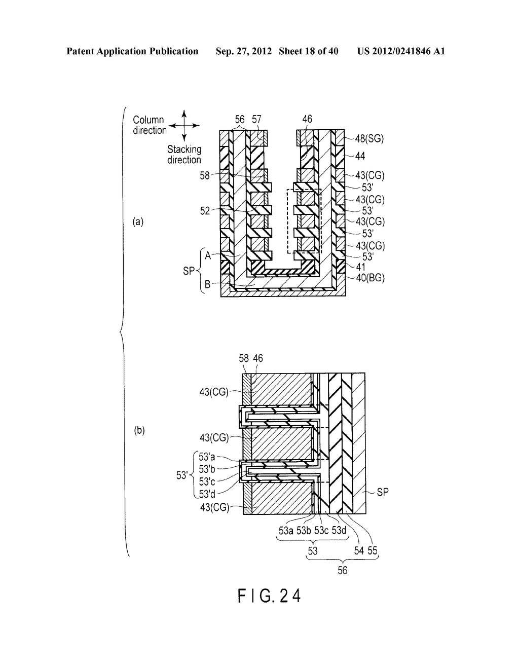 NONVOLATILE SEMICONDUCTOR MEMORY DEVICE AND METHOD OF MANUFACTURING THE     SAME - diagram, schematic, and image 19