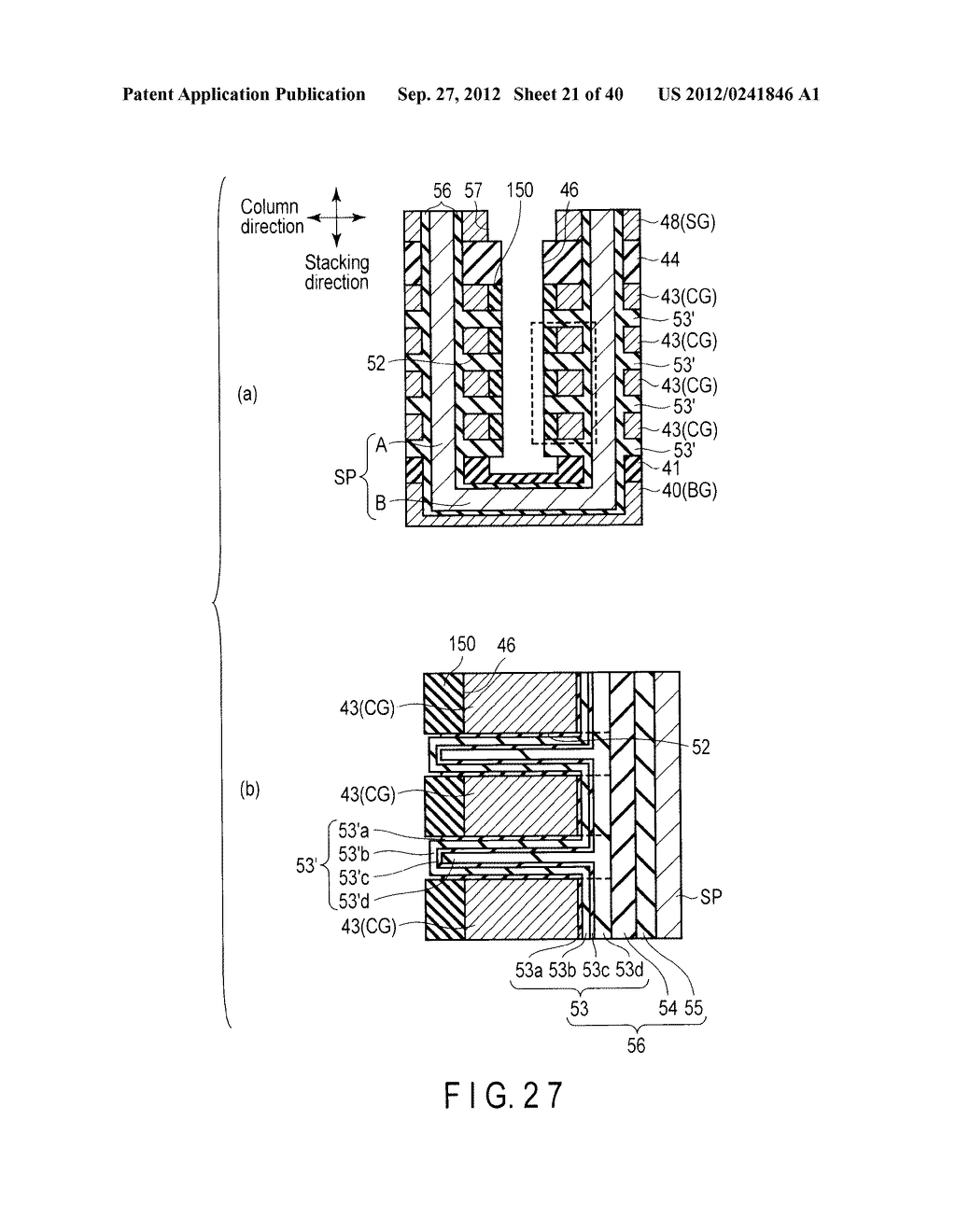 NONVOLATILE SEMICONDUCTOR MEMORY DEVICE AND METHOD OF MANUFACTURING THE     SAME - diagram, schematic, and image 22