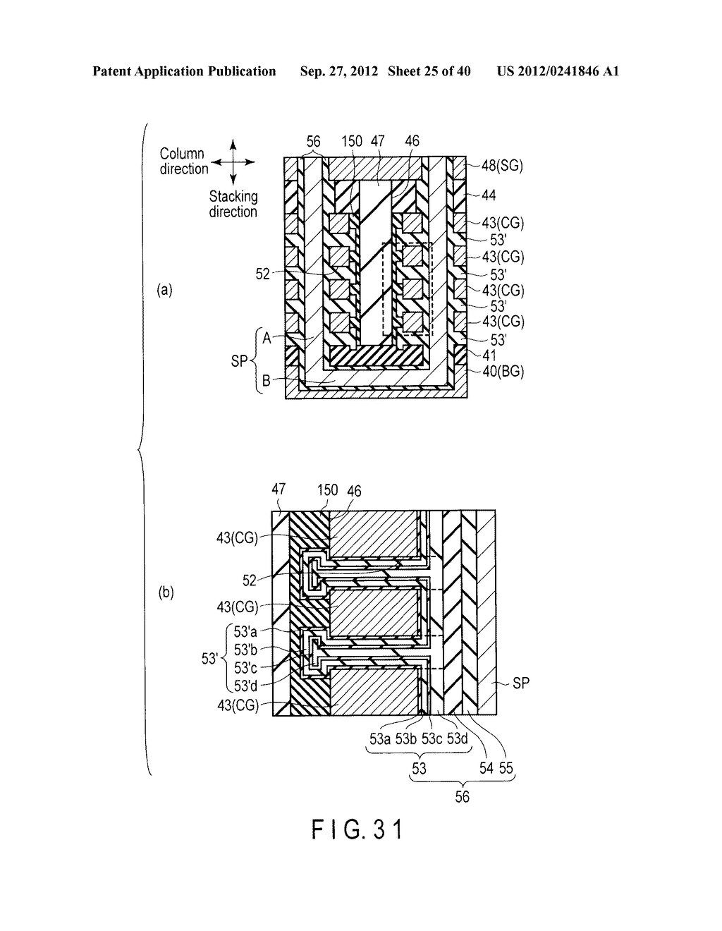 NONVOLATILE SEMICONDUCTOR MEMORY DEVICE AND METHOD OF MANUFACTURING THE     SAME - diagram, schematic, and image 26
