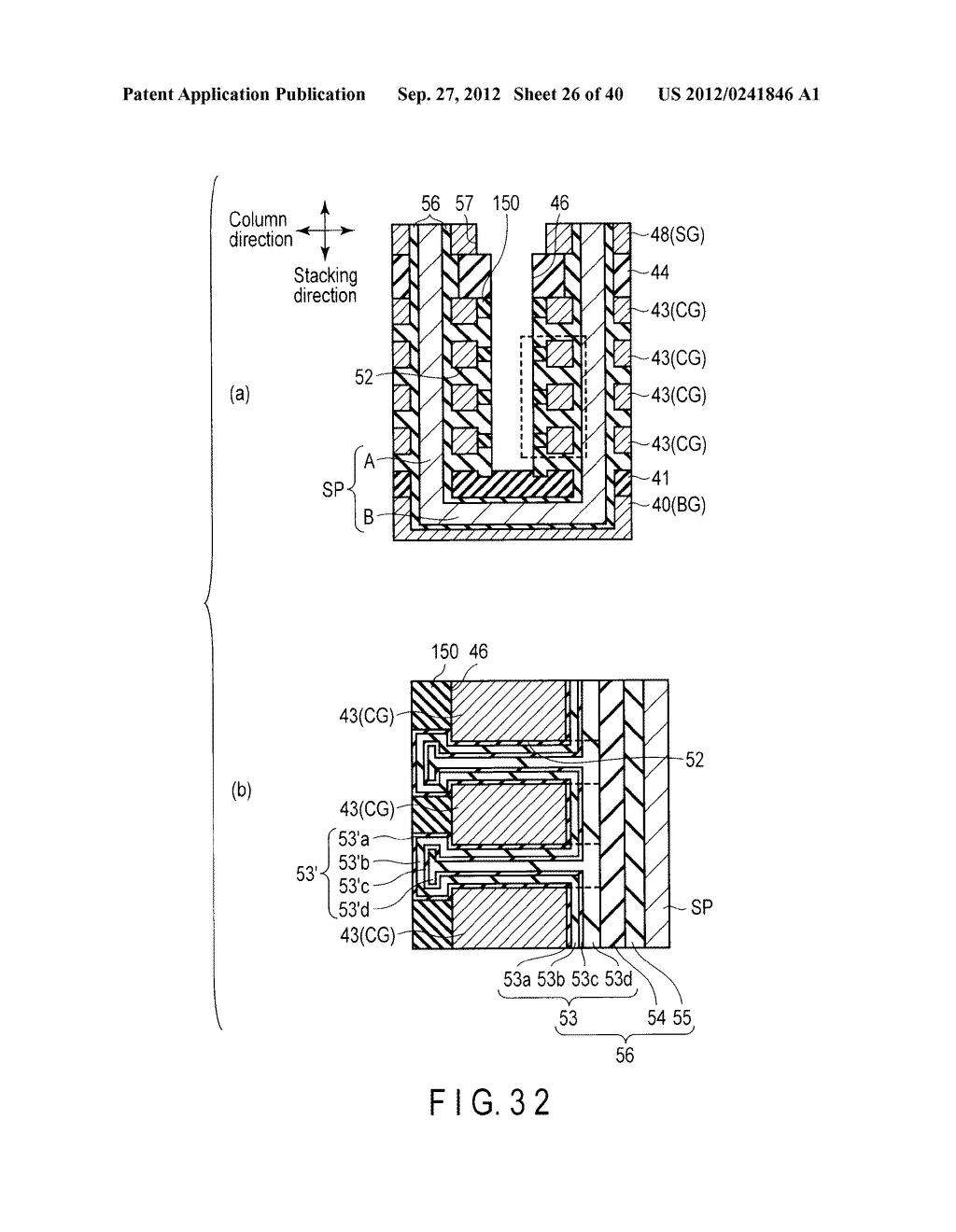 NONVOLATILE SEMICONDUCTOR MEMORY DEVICE AND METHOD OF MANUFACTURING THE     SAME - diagram, schematic, and image 27