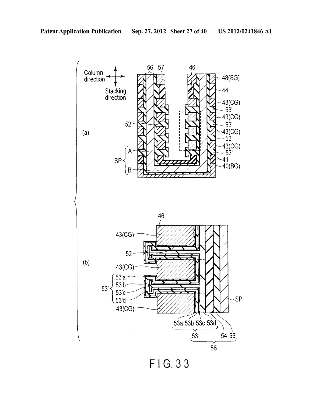 NONVOLATILE SEMICONDUCTOR MEMORY DEVICE AND METHOD OF MANUFACTURING THE     SAME - diagram, schematic, and image 28