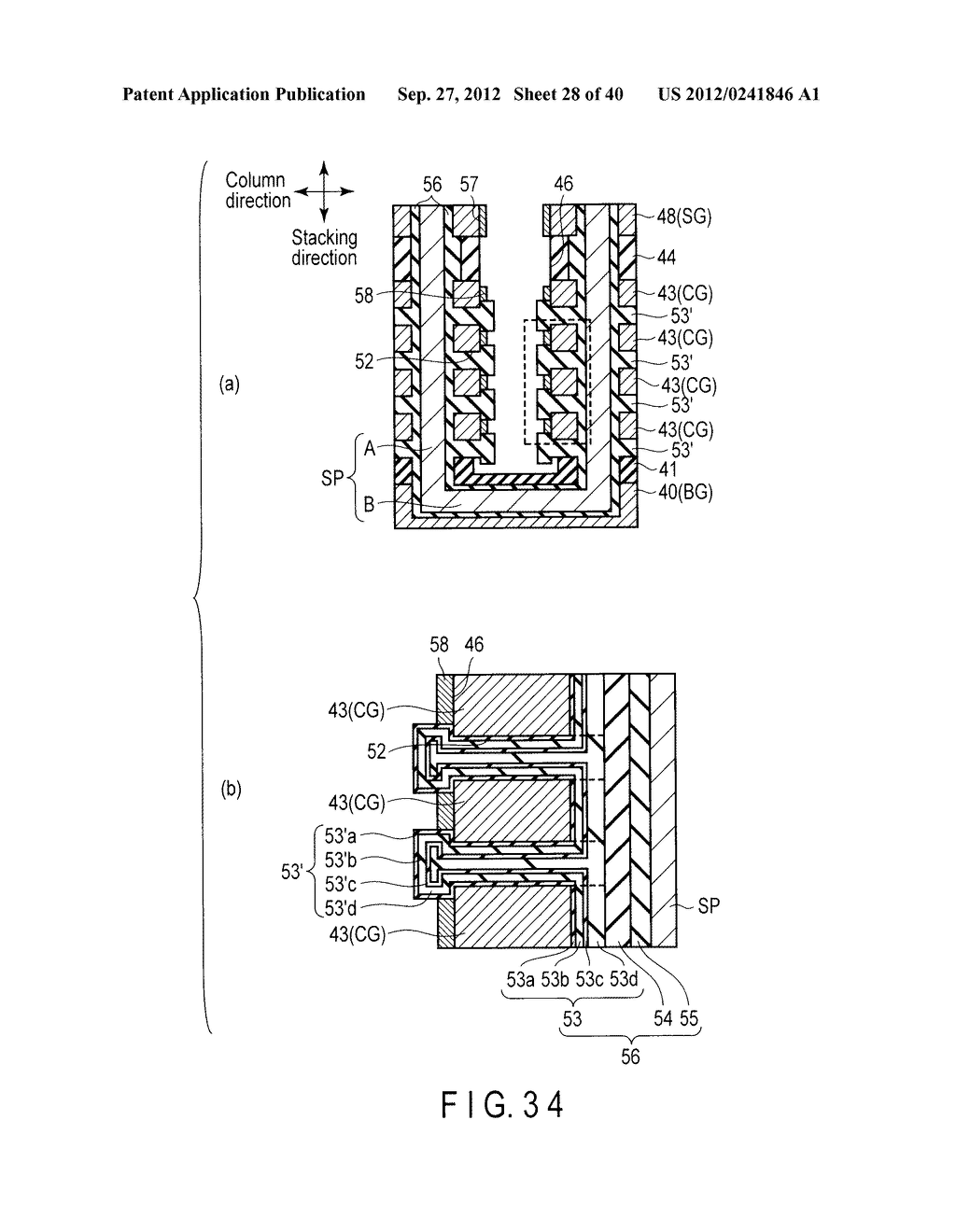 NONVOLATILE SEMICONDUCTOR MEMORY DEVICE AND METHOD OF MANUFACTURING THE     SAME - diagram, schematic, and image 29