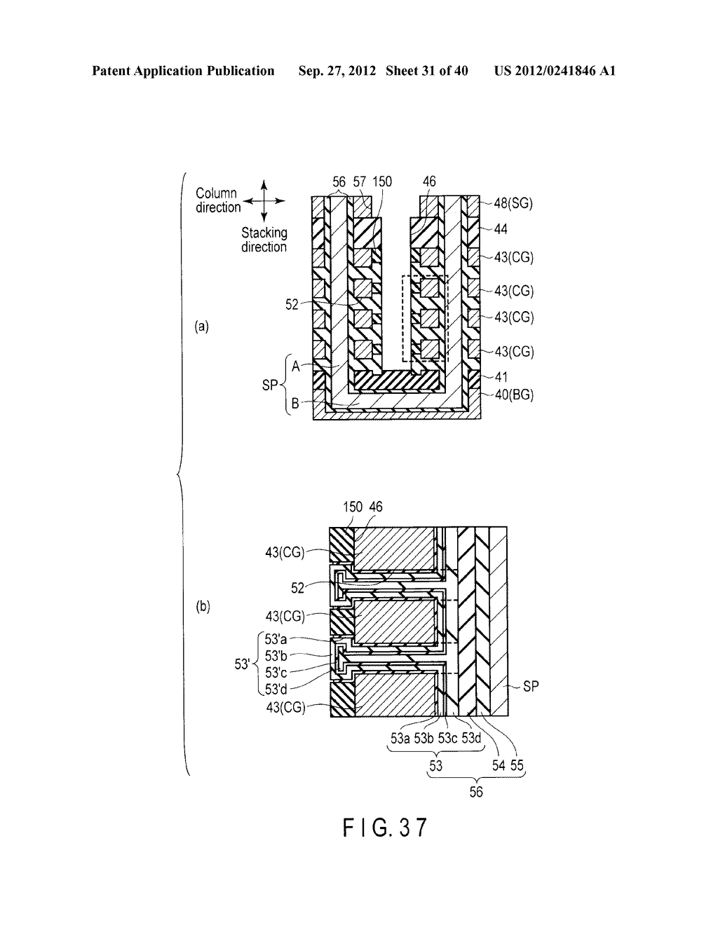 NONVOLATILE SEMICONDUCTOR MEMORY DEVICE AND METHOD OF MANUFACTURING THE     SAME - diagram, schematic, and image 32