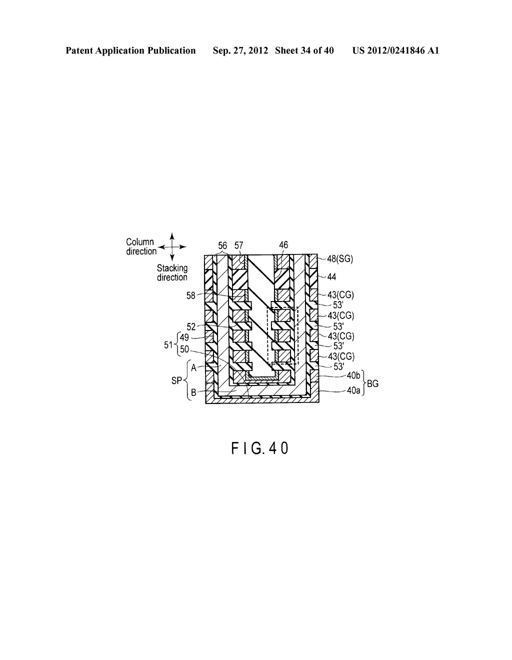 NONVOLATILE SEMICONDUCTOR MEMORY DEVICE AND METHOD OF MANUFACTURING THE     SAME - diagram, schematic, and image 35