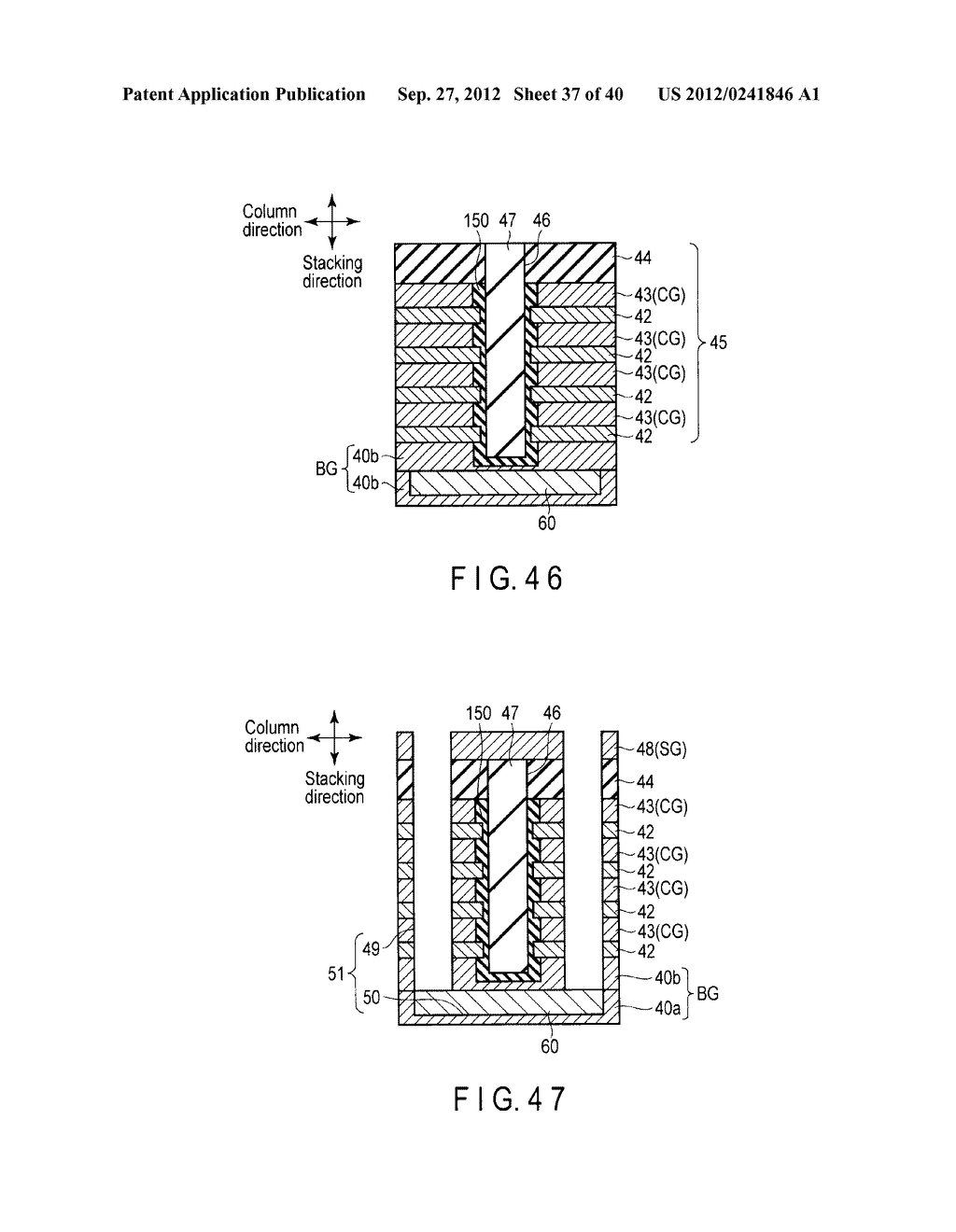 NONVOLATILE SEMICONDUCTOR MEMORY DEVICE AND METHOD OF MANUFACTURING THE     SAME - diagram, schematic, and image 38