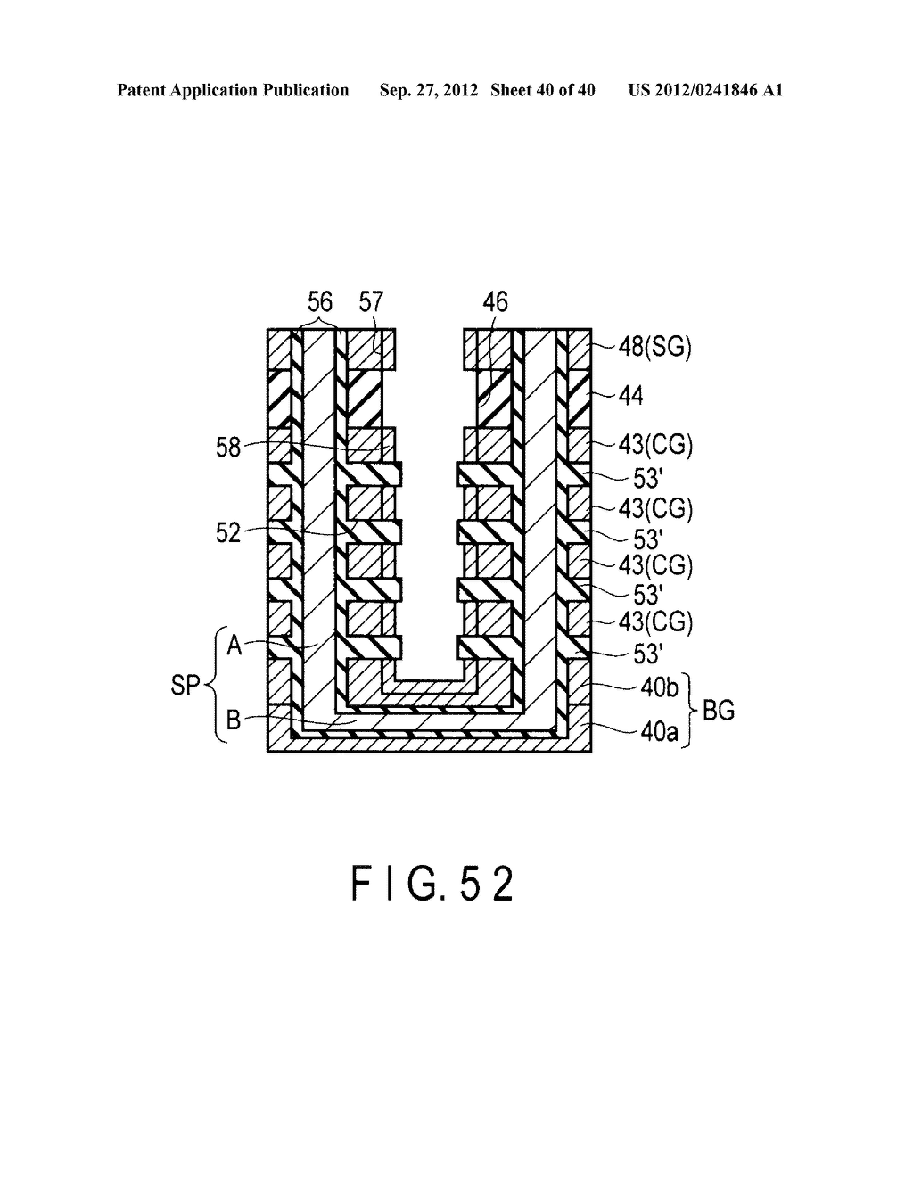 NONVOLATILE SEMICONDUCTOR MEMORY DEVICE AND METHOD OF MANUFACTURING THE     SAME - diagram, schematic, and image 41