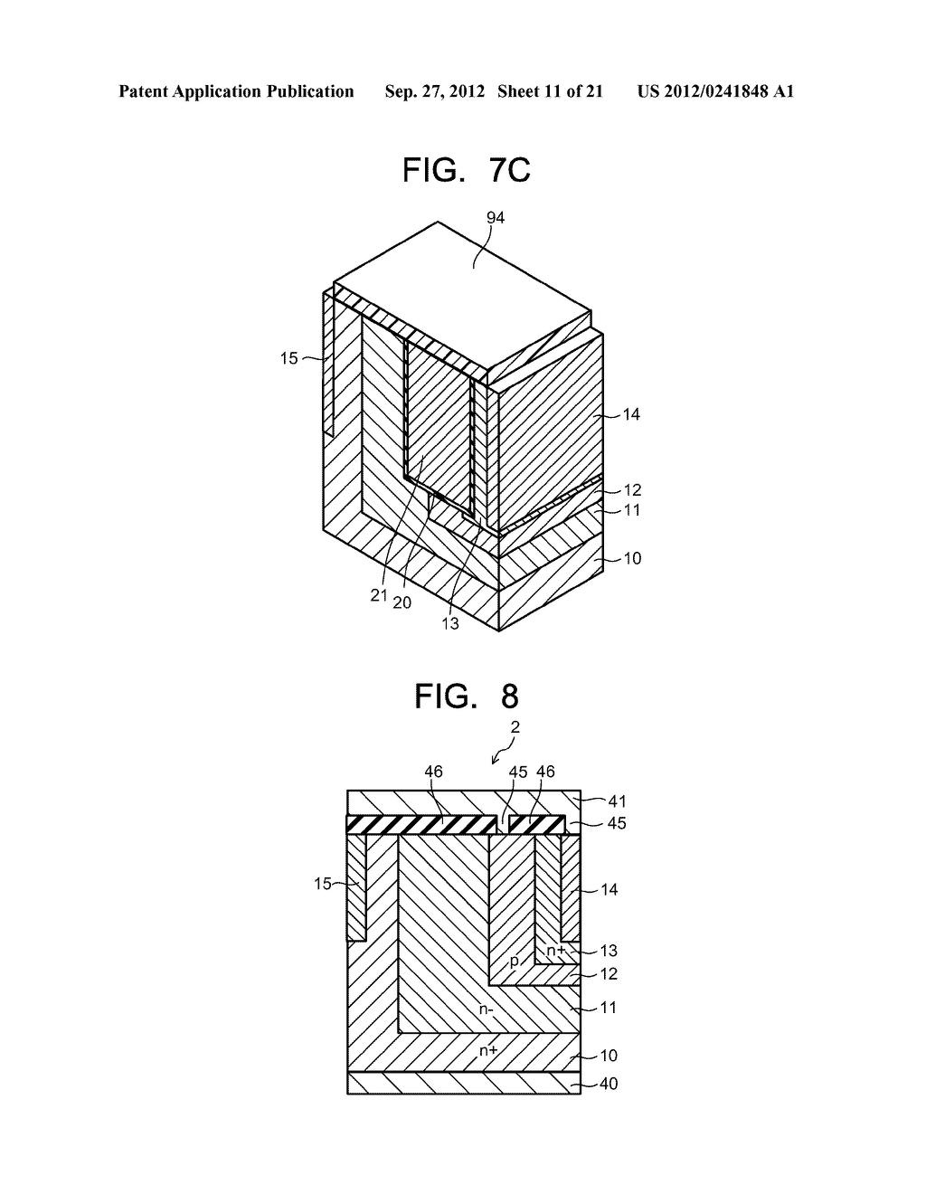 SEMICONDUCTOR ELEMENT AND METHOD OF MANUFACTURING SEMICONDUCTOR ELEMENT - diagram, schematic, and image 12