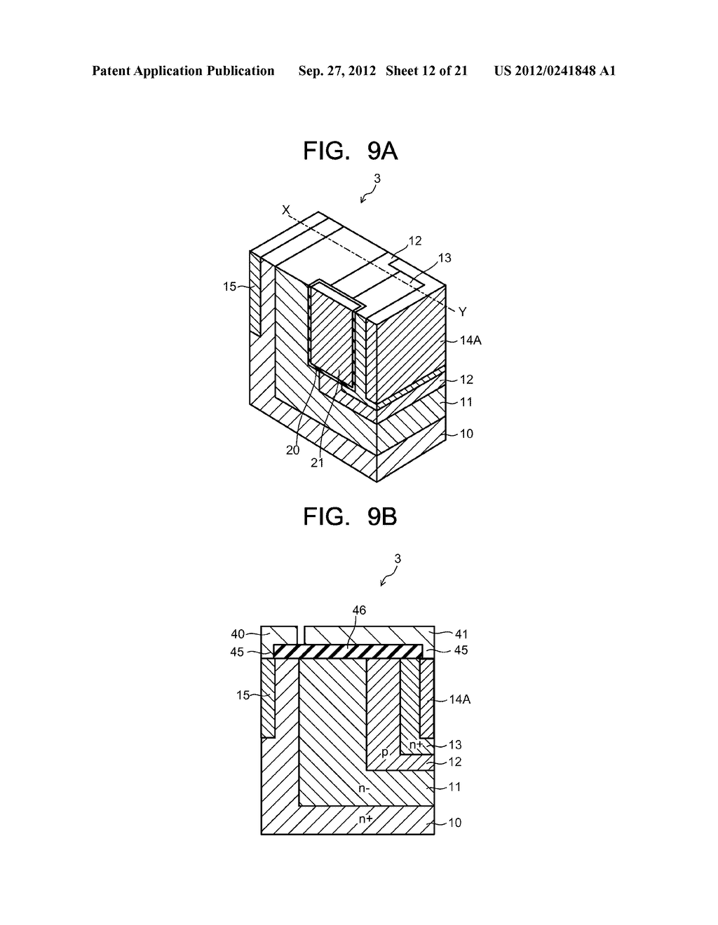 SEMICONDUCTOR ELEMENT AND METHOD OF MANUFACTURING SEMICONDUCTOR ELEMENT - diagram, schematic, and image 13