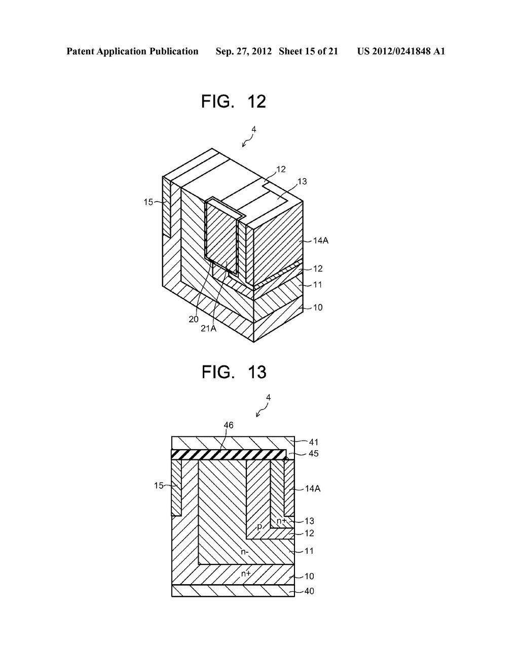 SEMICONDUCTOR ELEMENT AND METHOD OF MANUFACTURING SEMICONDUCTOR ELEMENT - diagram, schematic, and image 16