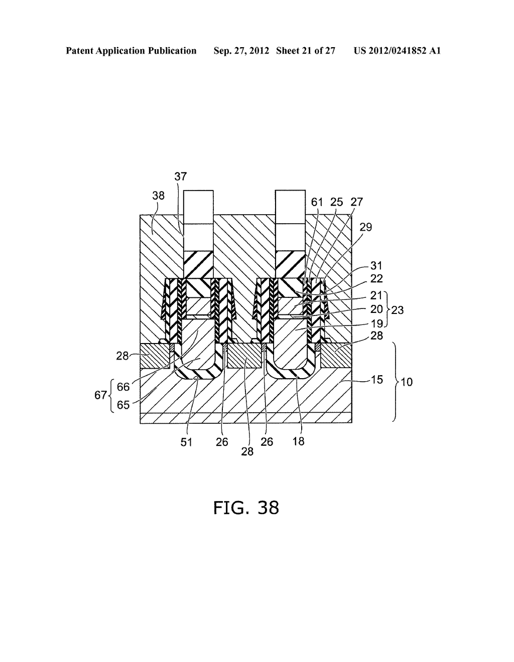 SEMICONDUCTOR DEVICE AND METHOD FOR MANUFACTURING SAME - diagram, schematic, and image 22