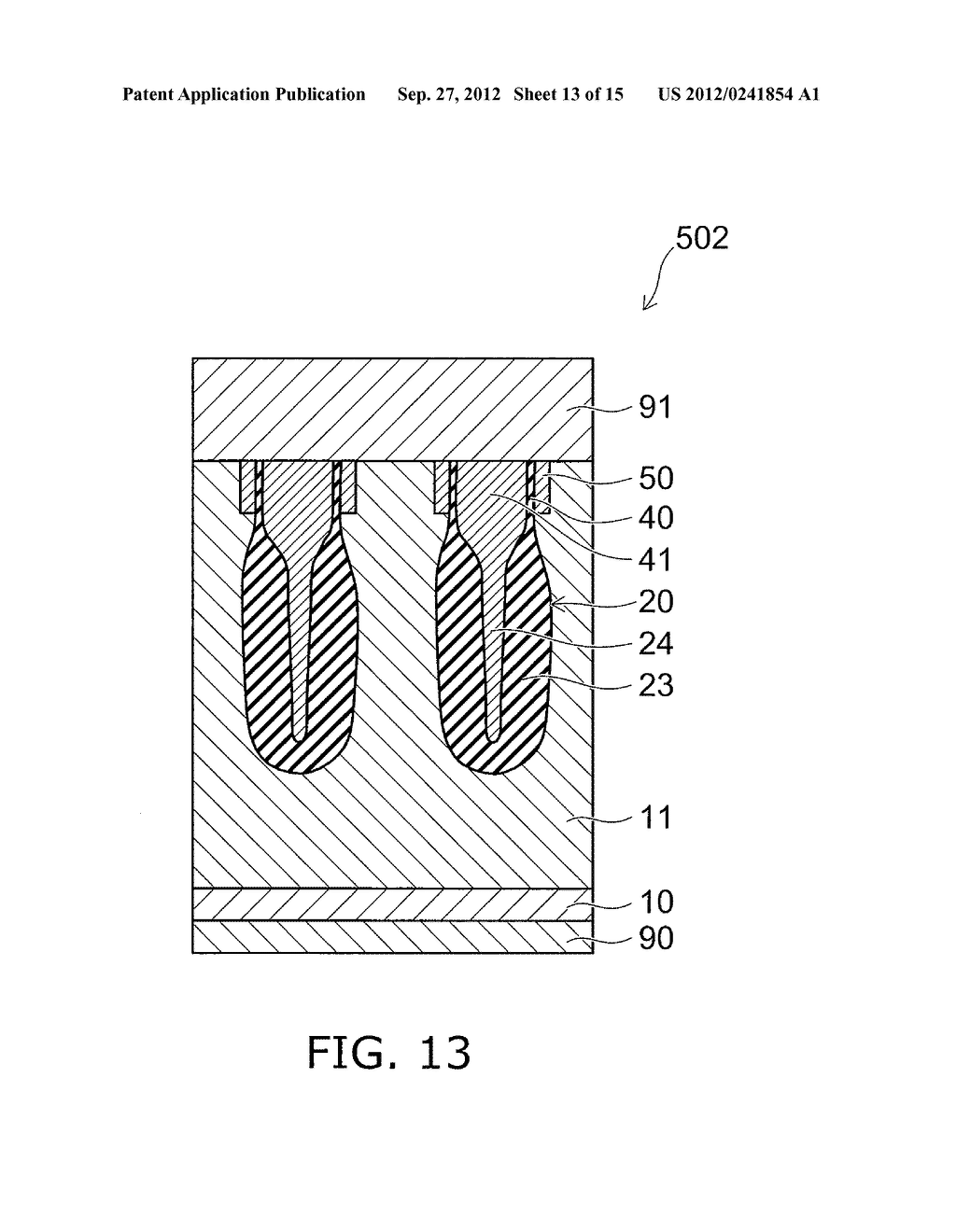 SEMICONDUCTOR DEVICE AND METHOD FOR MANUFACTURING SAME - diagram, schematic, and image 14