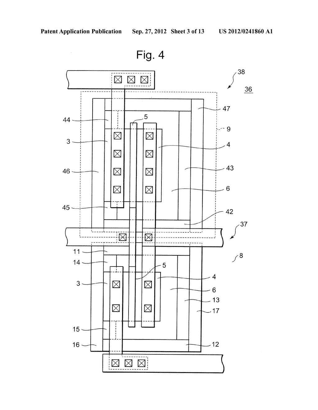 SEMICONDUCTOR INTEGRATED CIRCUIT INCLUDING TRANSISTOR  HAVING DIFFUSION     LAYER FORMED AT OUTSIDE OF ELEMENT ISOLATION REGION FOR PREVENTING SOFT     ERROR - diagram, schematic, and image 04